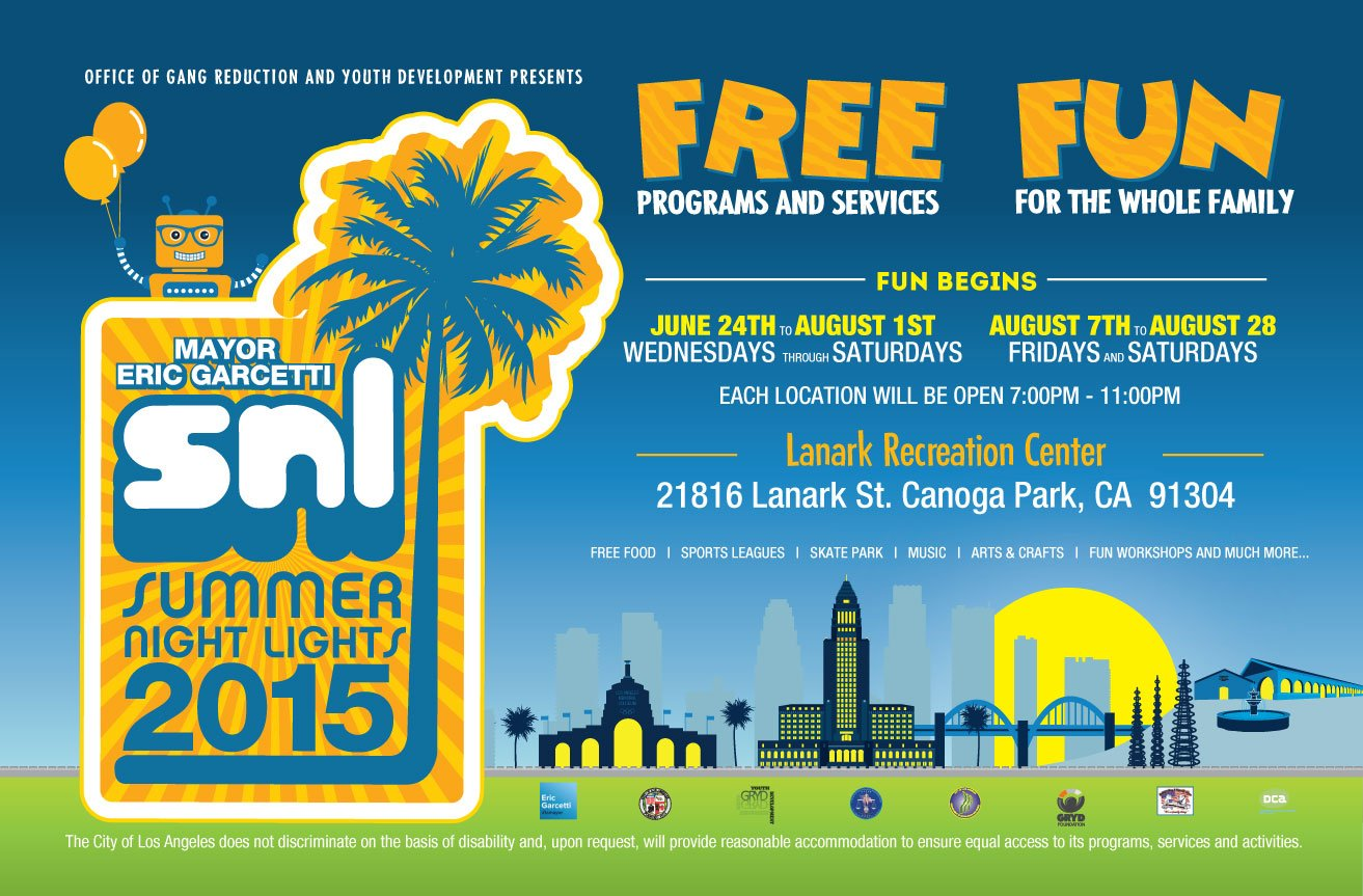 Summer Night Lights 2015 at Lanark Park