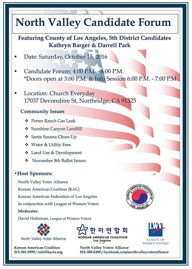 LA County 5th District Candidate Forum: Kathryn Barger and Darrell Park