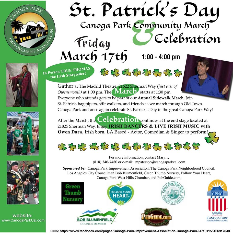 Canoga Park St. Patrick's Day Community March and Celebration