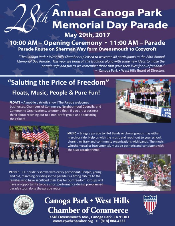 28th Annual Canoga Park Memorial Day Parade