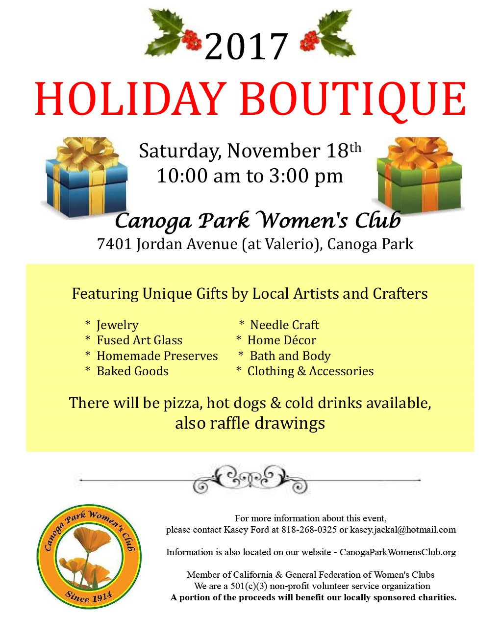 Canoga Park Women's Club 2017 Holiday Boutique