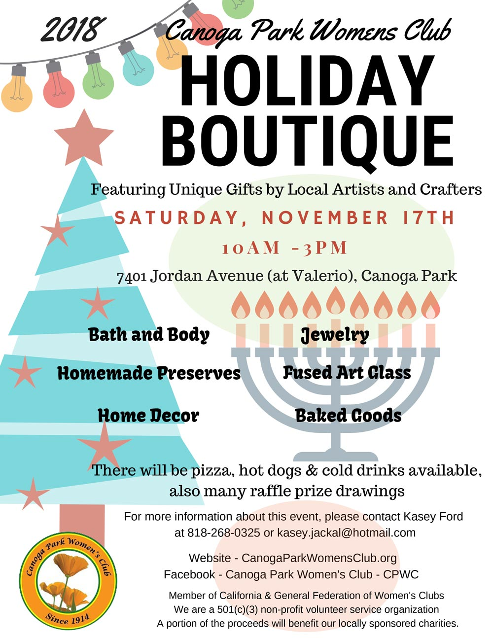 2018 Canoga Park Women's Club Holiday Boutique