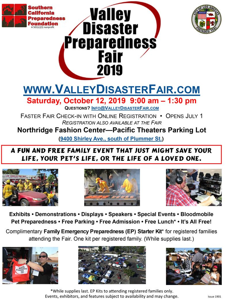 Sign Up Today for the Valley Disaster Preparedness Fair 2019