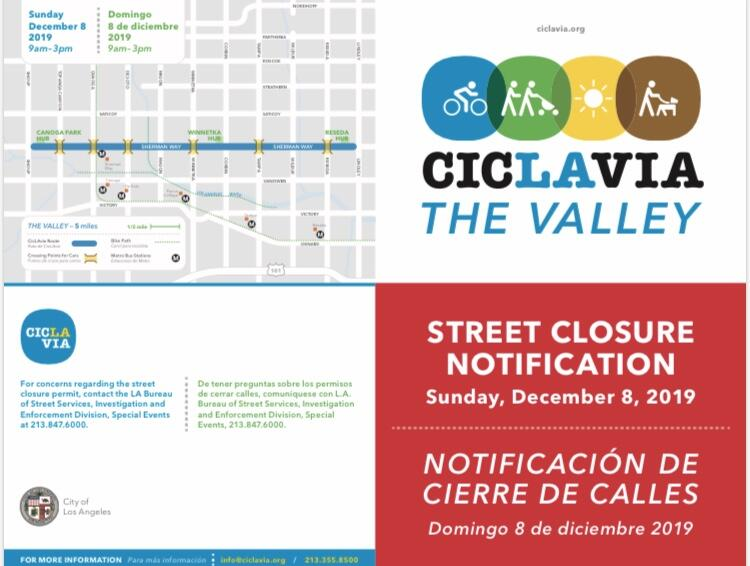 "CicLAvia ""The Valley"" – December 8, 2019"